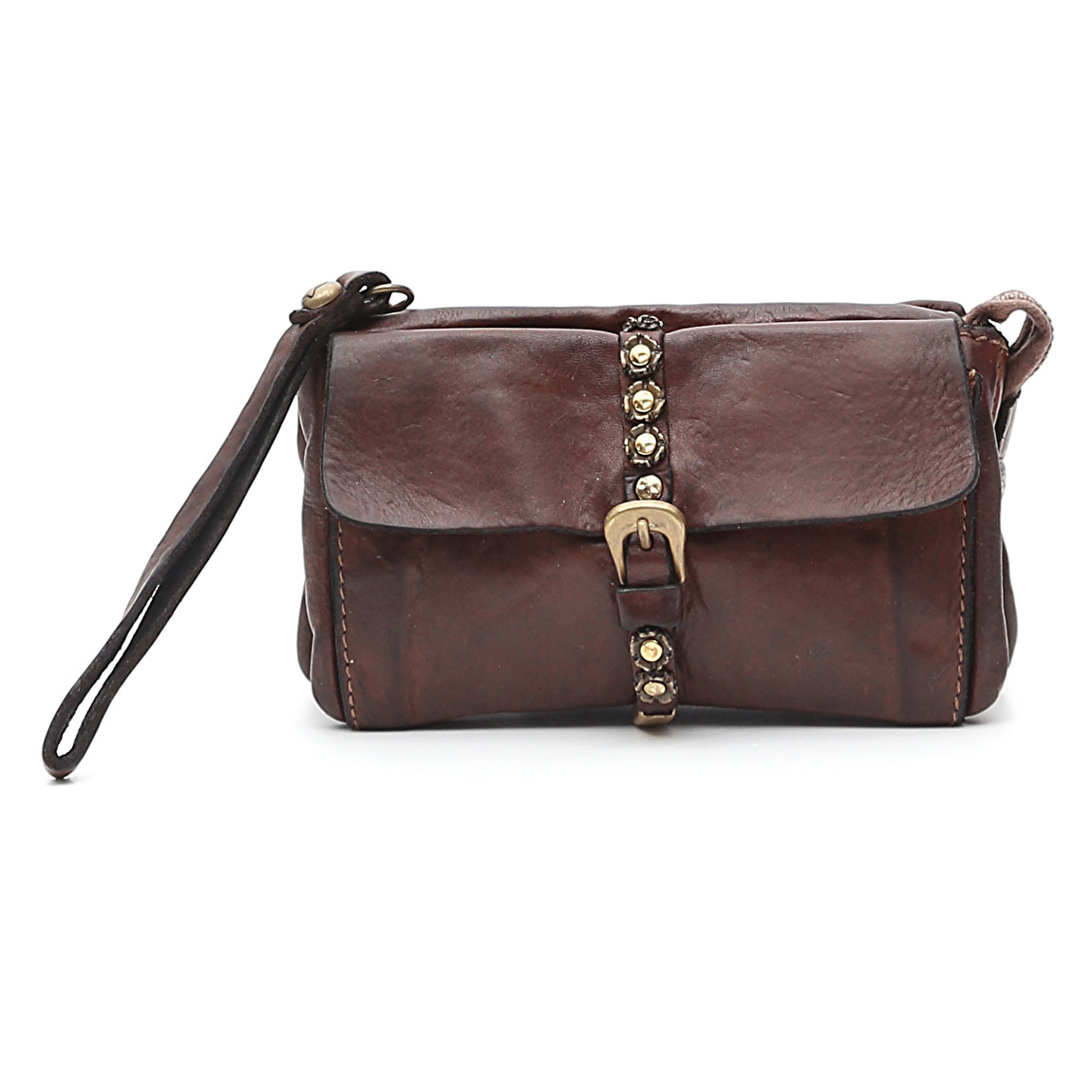 best quality get online factory price Campomaggi wrist-string dark-brown leather Wallet – Indian ...